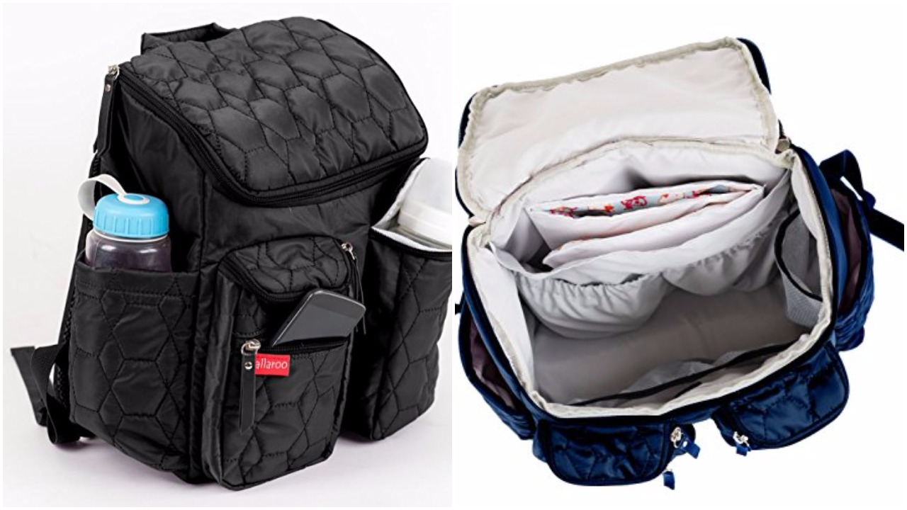 e6b22eaec18 Coolbell Baby Diaper Backpack With Insulated Pockets Grey Large ...