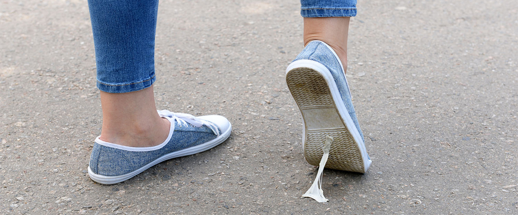 Remove Gum From Your Shoe